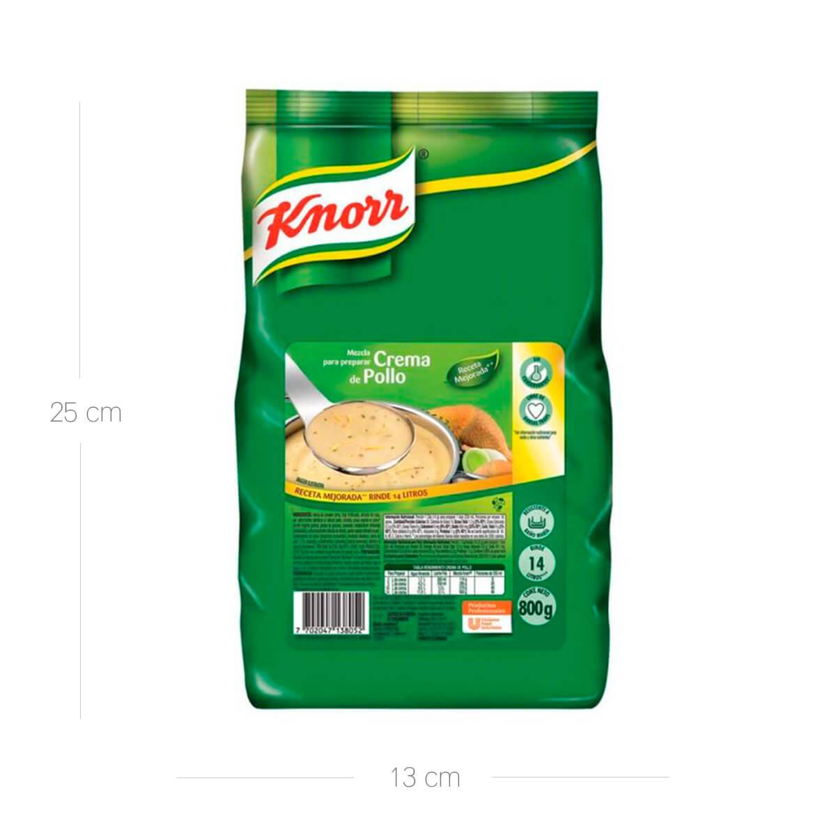 Crema Pollo Knorr x 800 Gr Bolsa