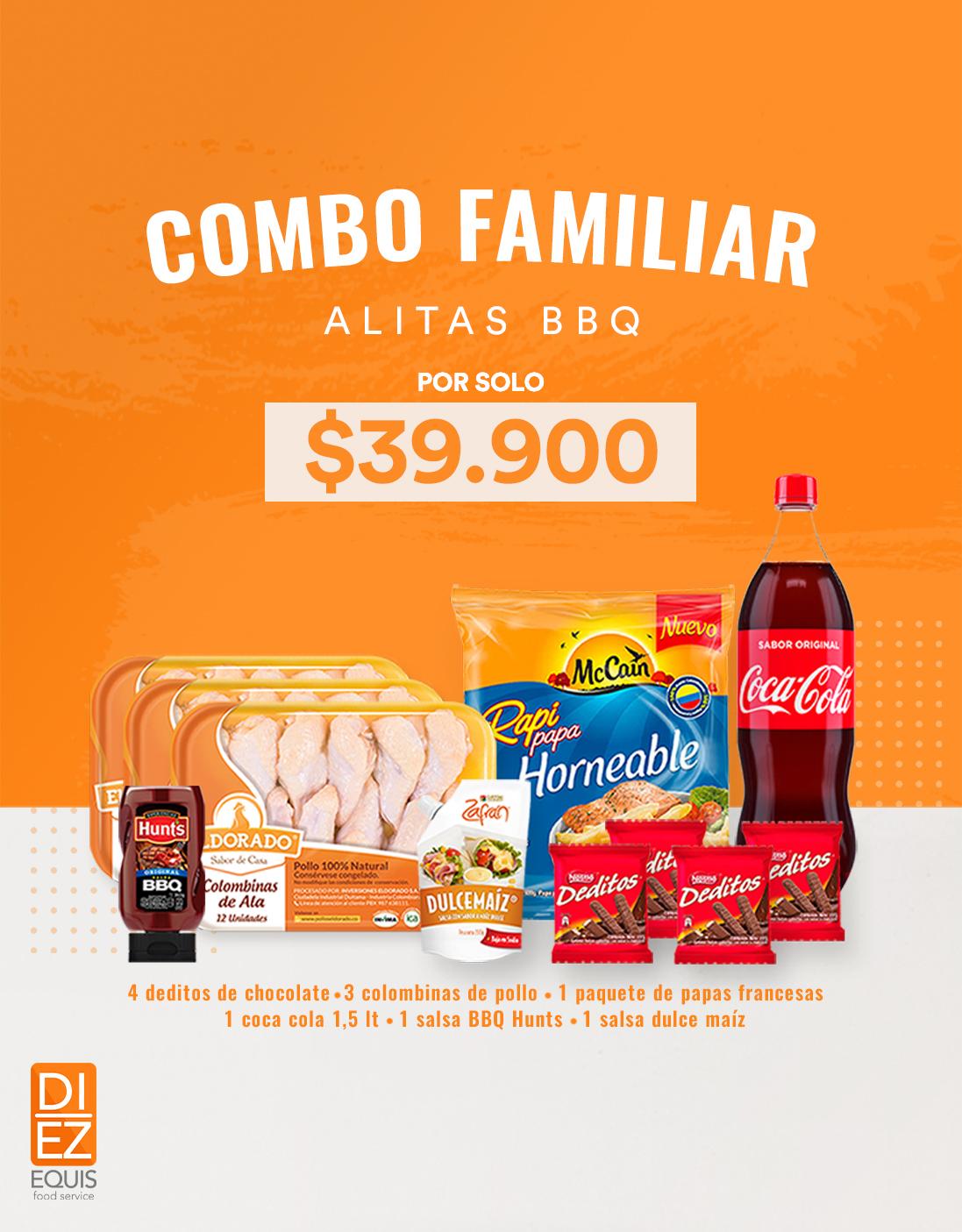 Banner Combo Alitas BBQ